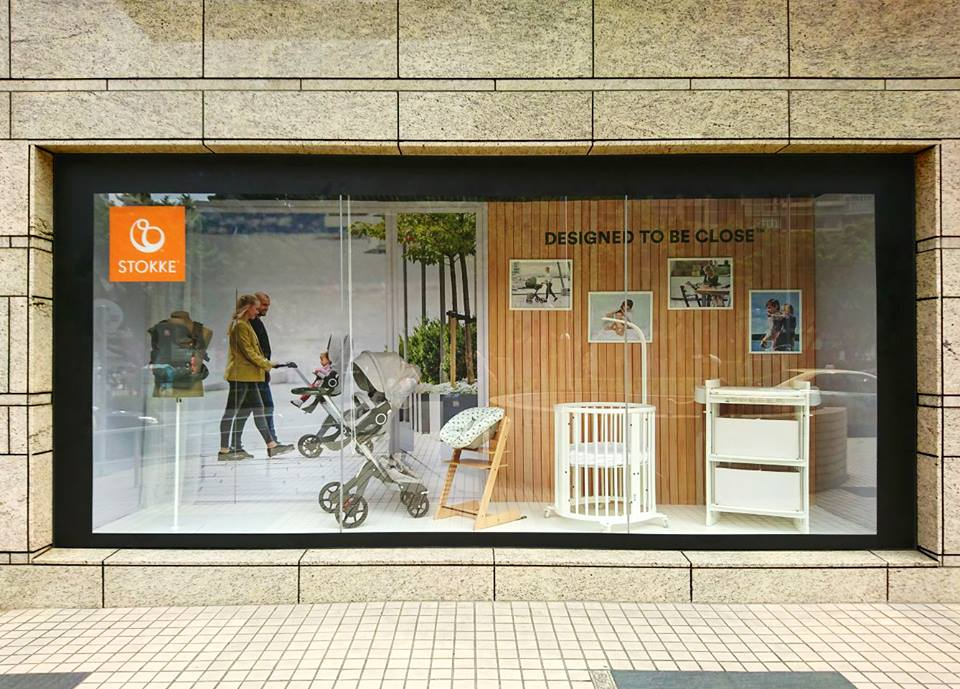 STOKKE Window Display @Yaohan